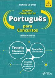 MANUAL COMPLETO DE PORTUGUES PARA CONCURSOS - 3a ED - 2019