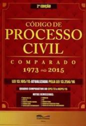 NOVO CODIGO DE PROCESSO CIVIL COMPARADO - 1973 - 2015 - 2a ED. 2016