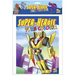 SUPER-HEROIS PARA COLORIR - KIT COM 10 UNIDADES