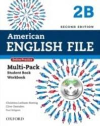 AMERICAN ENGLISH FILE 2B - MULTIPACK WITH ONLINE PRACTICE AND ICHECKER - 2a. ED