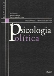REVISTA PSICOLOGIA POLITICA VOL. 3 No. 5 - 2003